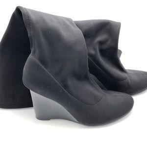 Gabriella Rocha Wedge Stretch Sock Boot in Black
